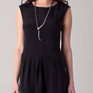 Theory Women's Dress Halleli Glowing Black Sleevel
